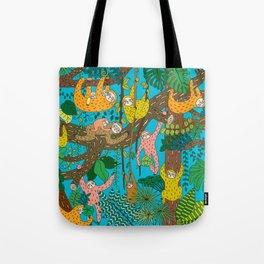 Happy Sloths Jungle Tote Bag