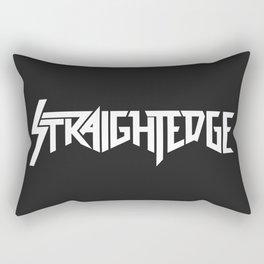 Straight Edge Metal Logo Rectangular Pillow
