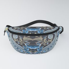 Blue Brown Vintage Paisley Fanny Pack