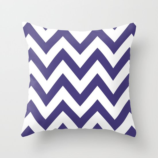 HORNED FROG CHEVRON Throw Pillow