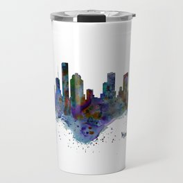 Houston Watercolor Skyline Travel Mug