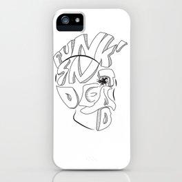 Punk's nOt Dead iPhone Case