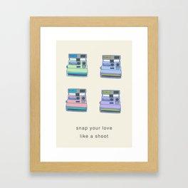 Snap Your Love Framed Art Print