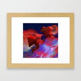 Casitas Flotantes Framed Art Print