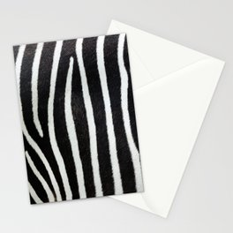 Zebra skin close-up view luxury abstract pattern Stationery Cards