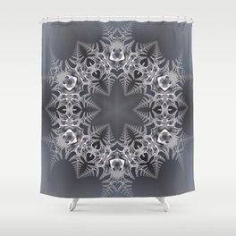 Digital snowflake mandala Shower Curtain