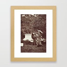Afternoon in the Cemetery Framed Art Print