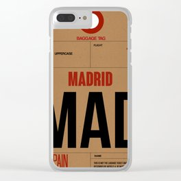 MAD Madrid Luggage Tag 2 Clear iPhone Case