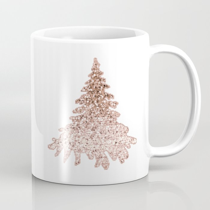 Coffee Christmas Tree.Sparkling Christmas Tree Rose Gold Ombre Coffee Mug By Roseaesthetic