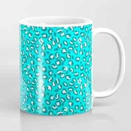 Ocean Blue and Blue Green Leopard Spot Pattern Coffee Mug
