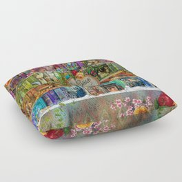 A Stitch In Time Floor Pillow