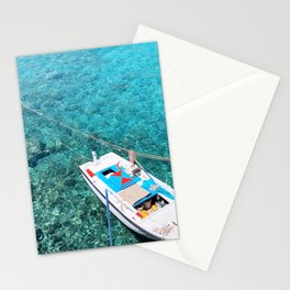229. Turquoise Water, Greece Stationery Cards