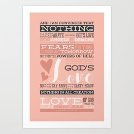 Nothing Can Separate Us From God's Love Art Print