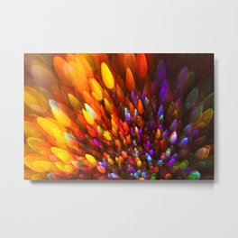 Champagne Sparkles and Color Bomb Burst Metal Print