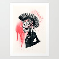 punk Art Prints featuring PUNK by Ali GULEC