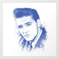 elvis presley Art Prints featuring Elvis Presley by Chadlonius