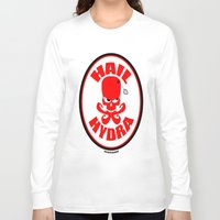 hydra Long Sleeve T-shirts featuring Hydra by artandawesome