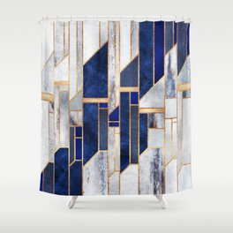 Blue Winter Sky Shower Curtain