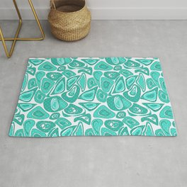 Retro .Turquoise abstraction . Rug