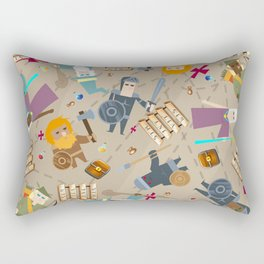 Treasure Chests & Potions Rectangular Pillow