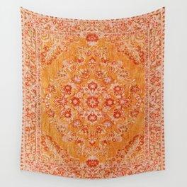 N78 - Orange Antique Oriental Berber Moroccan Style Carpet Design. Wall Tapestry