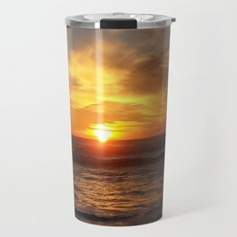 Beach sunsets in Winter Travel Mug