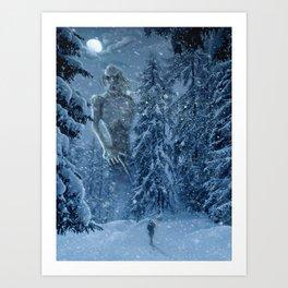 Ithaqua the Windwalker Art Print