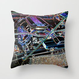 The engine of a sports car Throw Pillow