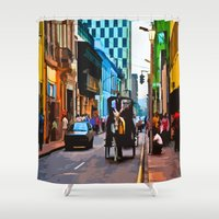 peru Shower Curtains featuring Lima, Peru - Around town by Liesl Marelli