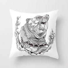 Spirit Bear Throw Pillow