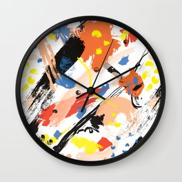 Abstract Floral Splash Wall Clock