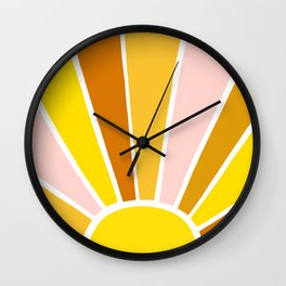 Sun Ray Burst Wall Clock