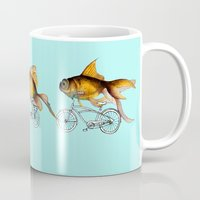 fish Mugs featuring fish by Кaterina Кalinich