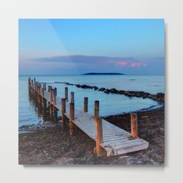 Peace and silence - a pier at sunset Metal Print