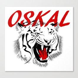 Oskal Tiger Tattoo Canvas Print