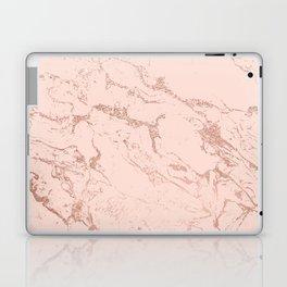 Modern rose gold glitter ombre foil blush pink marble pattern Laptop & iPad Skin