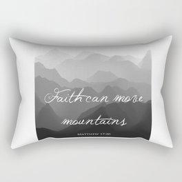 Faith Can Move Mountains Religious Bible Verse Art - Matthew 17:20 Rectangular Pillow