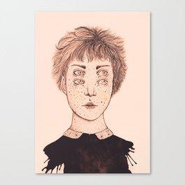 Mrs Foureyes Canvas Print