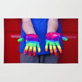 Rainbow Hands Rug