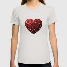 Beautiful Glamour Red Glitter sparkles T-shirt