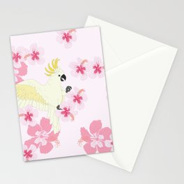 Polly's Pink Hibiscus Party Stationery Cards