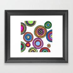 funky circles Framed Art Print