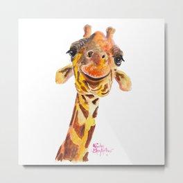 Nosey Giraffe ' Jo ' by Shirley MacArthur Metal Print