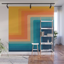 Retro 70s Color Lines Wall Mural