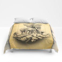Refuge Elephants Drawing Comforters