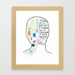 It's Kind Of A Funny Story Framed Art Print