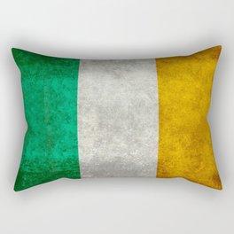 Flag of the Republic of Ireland, Vintage style Rectangular Pillow