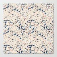 Cream Splatter Canvas Print