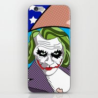super heroes iPhone & iPod Skins featuring super heroes by mark ashkenazi