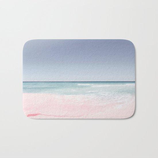 Pastel ocean waves Bath Mat